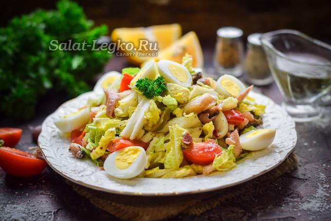 Салат из коктейля морепродуктов рецепт очень вкусный 102