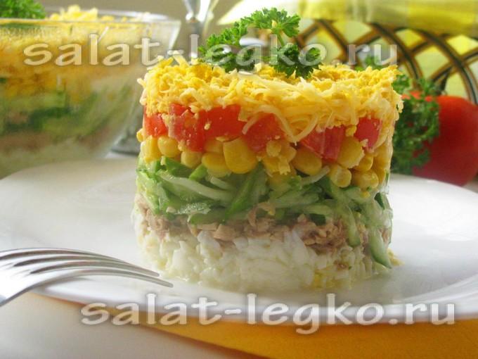 салат из тунца консервированного рецепт классический с фото