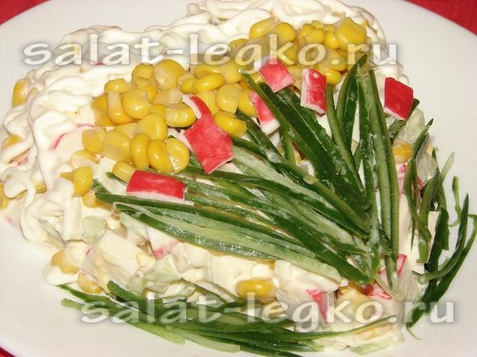 Салат из крабовых палочек как украсить