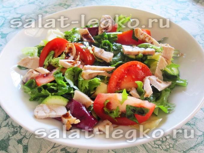 Салат мясо помидоры зелень