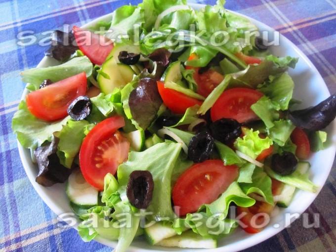 Салаты из свежей зелени рецепты