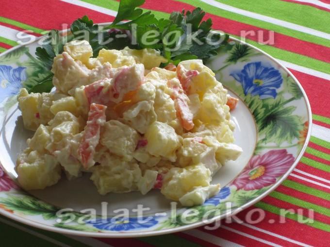 Салат скрабовыми палочками яицами и морковкой
