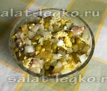 Салат с шампиньонами свежими яйцом
