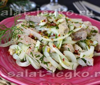Салат с яблоком краб палочками