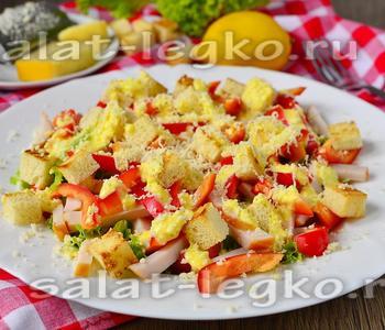 салат цезарь настоящий рецепт с курицей и
