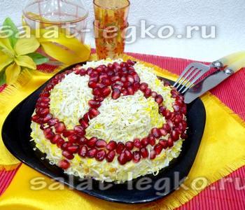 рецепт салата шапка мономаха с курицей с фото