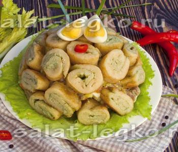 салат с блинами рецепт классический