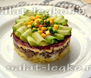 Салат слоеный с куриной печенью рецепт пошаговый 139