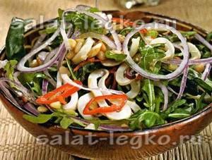 салаты с кальмаром рецепты с фото простые и вкусные