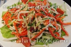 салаты с кальмаром рецепты с фото