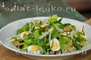 вкусный салат с яйцом