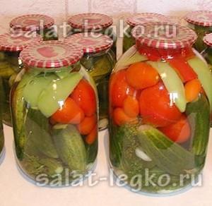Ассорти из огурцов и помидоров на зиму, самый вкусный