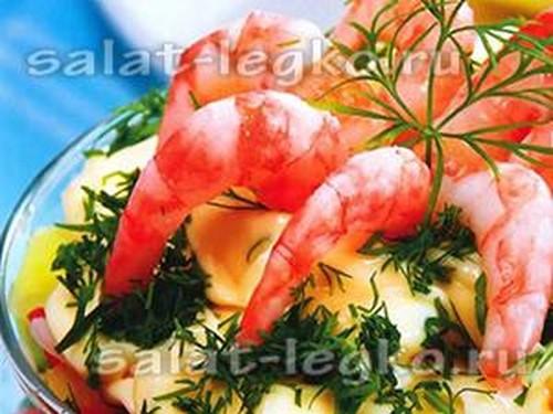 Салаты на день рождения простые и вкусные рецепты с креветками