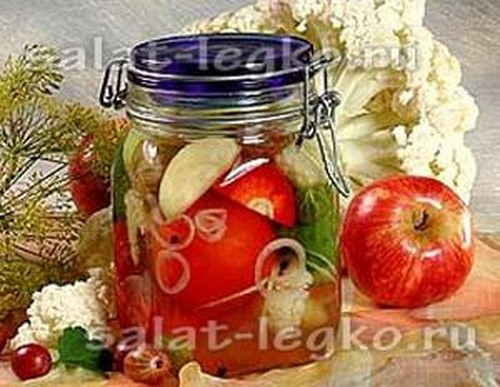 Салаты на зиму из помидоров и огурцов