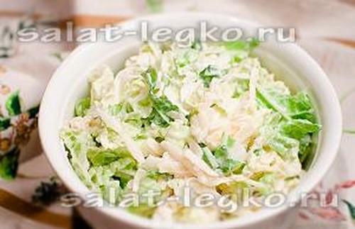 Рецепты салатов с пекинской капустой