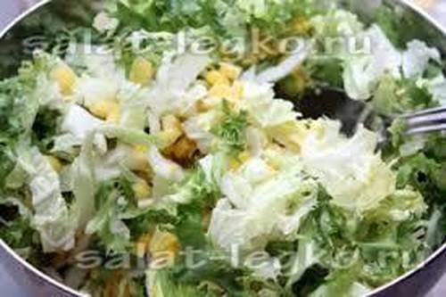 Пекинская капуста и салаты