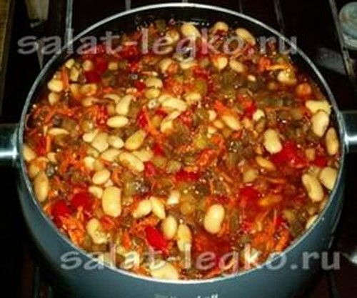 салат с фасоли на зиму рецепты с фото пошагово