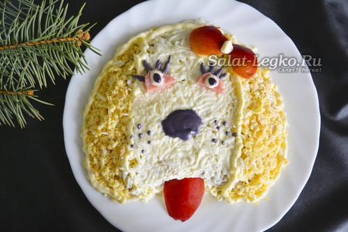 салат на Новый год Собака