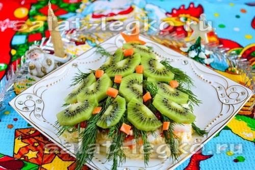 "Праздничный салат ""Ёлочка"""