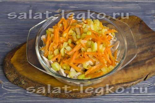 добавить жаренные овощи