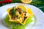 Салат с грейпфрутом и крабовыми палочками изоражения