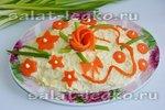 Простые украшения для салатов своими руками 14