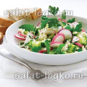 Салат «Весенний» с редиской и огурцом