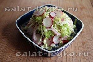 Салат с редькой и шалфеем