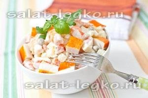 Шарики из крабового салата