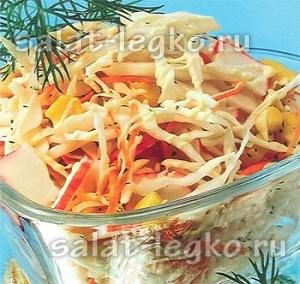 Рецепты салата с палочками краба