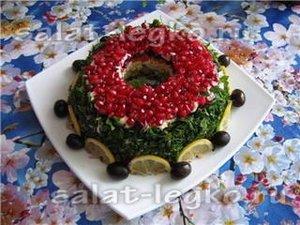 Салат Гранатовый браслет рецепты