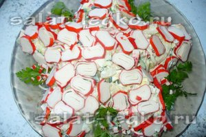 салаты с кальмаром рецепты с фото простые