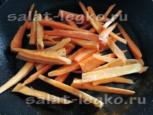 Обжариваем морковь обжарить