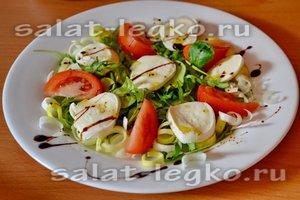 Свежий салат с моцареллой