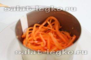 выложите корейскую морковку