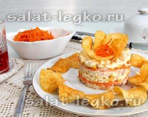Рецепт салата с чипсами