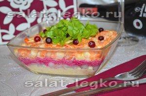20Рецепты салата слоями с жареными шампиньонами
