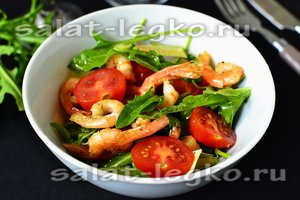 рецепт салата с черри, пармезаном и руколой