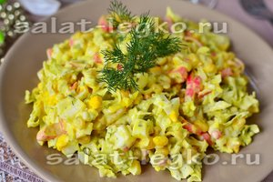 Салат из цветной капусты с помидорами