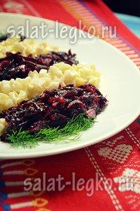 рецепт салата с хамсой