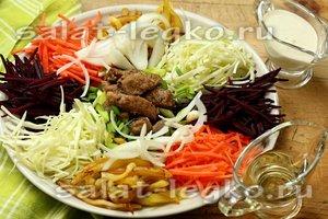 Салат Чафан с жареным мясом