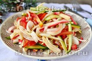 рецепт лёгкого салата с крабовыми палочками без майонеза