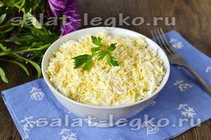 Рецепт Салат курочка ряба с курицей и грибами