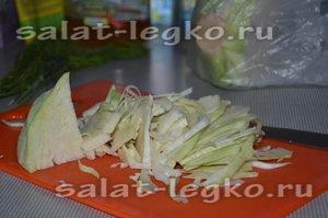 Капуста китайская салат с курицей
