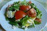 Sałatka z jajkiem i fasolką szparagową
