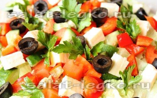Рецепты салатов простые с овощами