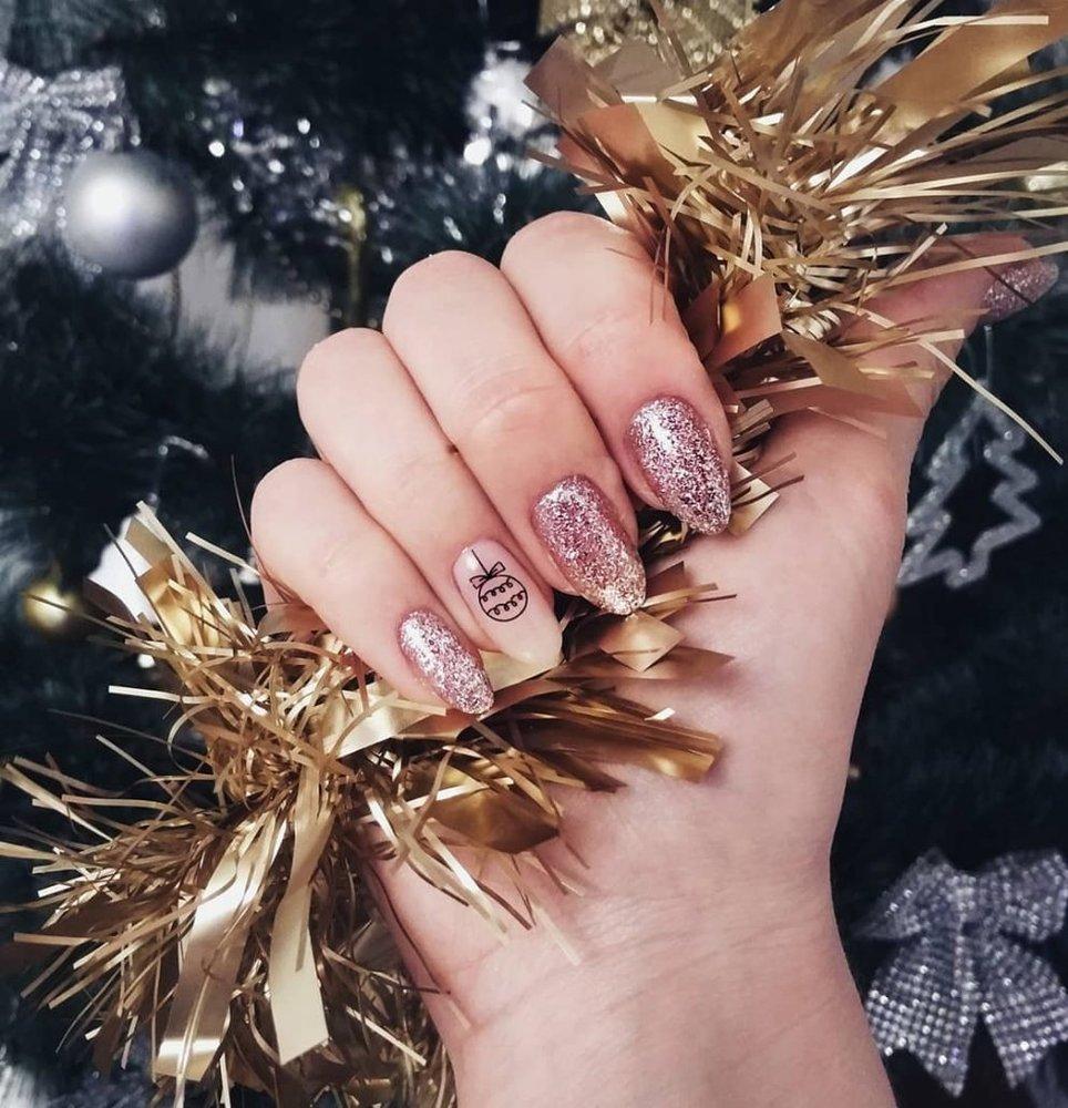 дизайн ногтей для нового года фото