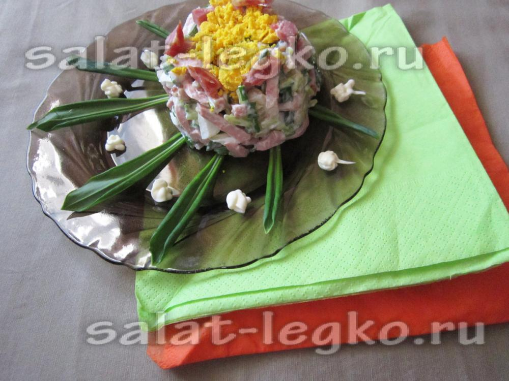 Рецепт острого мясного салата