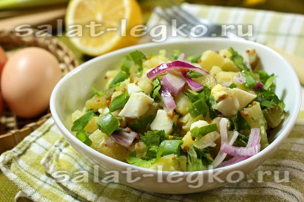 детские рецепты салаты картофельный салат с яйцом