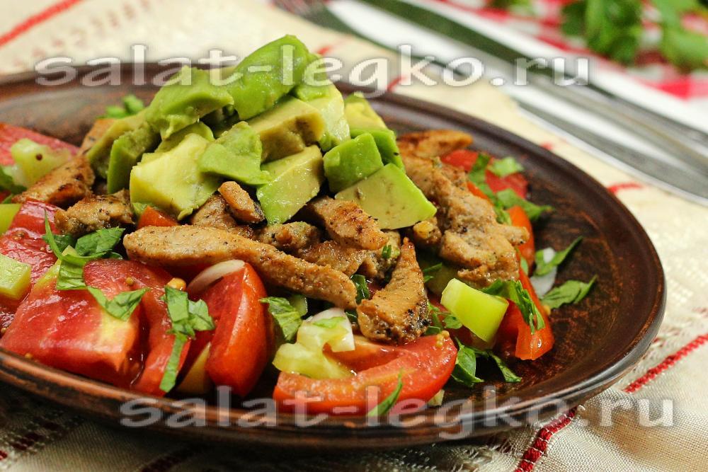 салат мясо с авокадо рецепты